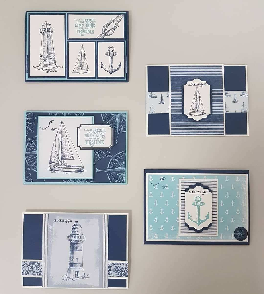 Sheila Prohl On Instagram Ich Liebe Maritime Karten Meerdermoglichkeiten Comesailaway Stampinup Nautische Karten Karten Basteln Karten Basteln Vorlagen