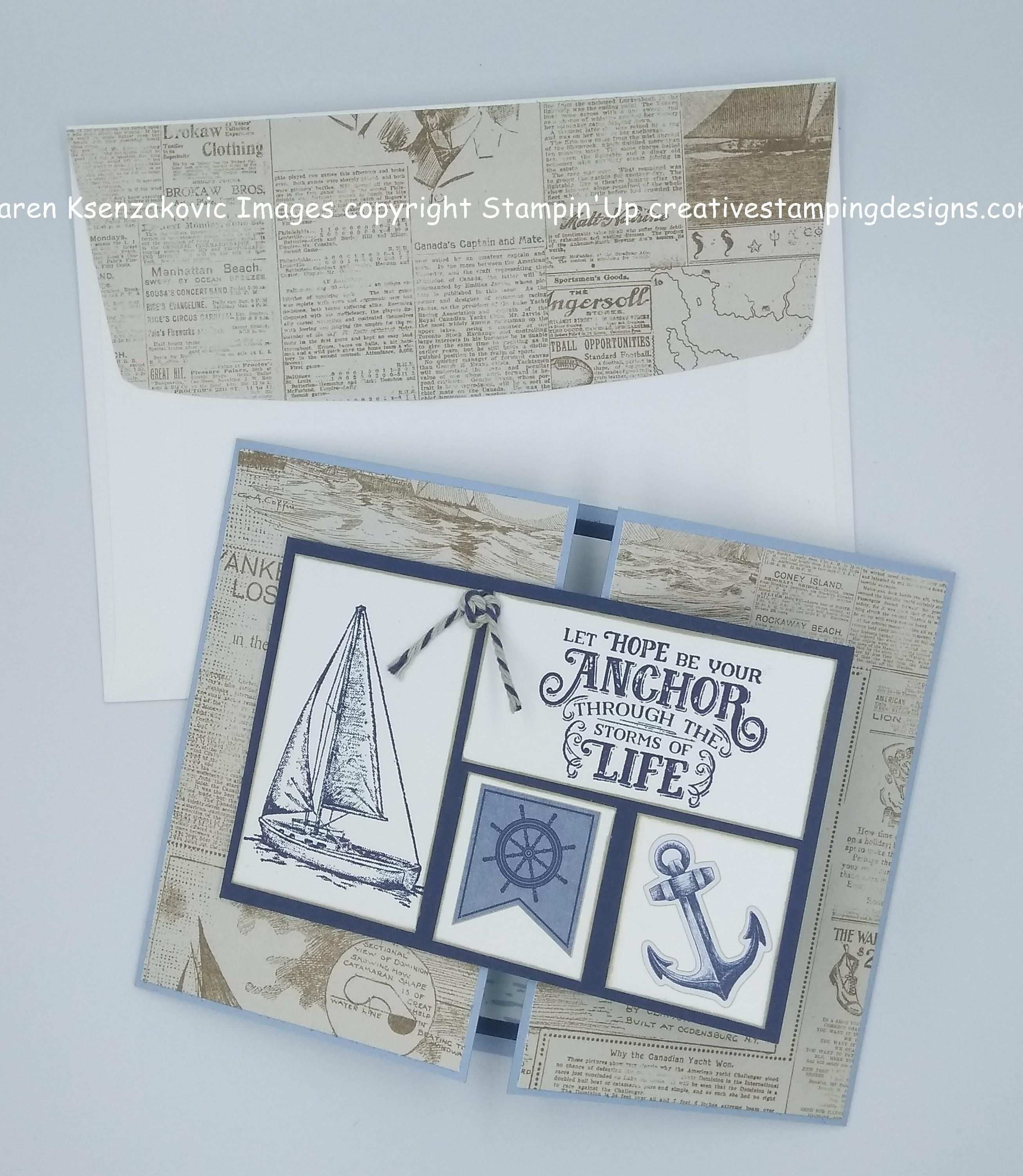 Stampin Up Sailing Home Sneak Peek For Amy S Inkin Krew Blog Hop Stamping Up Cards Stampin Up Stampin Up Cards