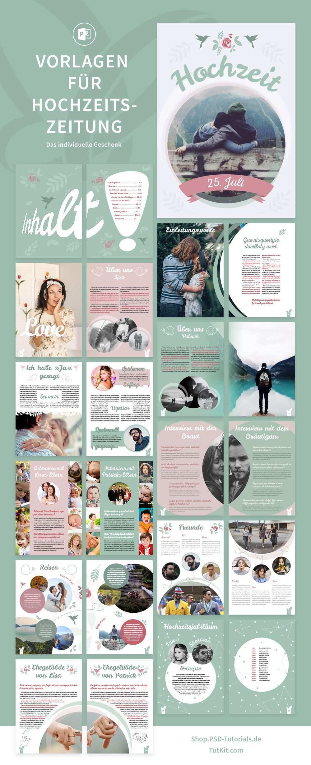 Hochzeitszeitung Vorlagen Fur Powerpoint Indesign Hochzeitszeitung Hochzeitszeitung Ideen Hochzeitszeitung Gestalten