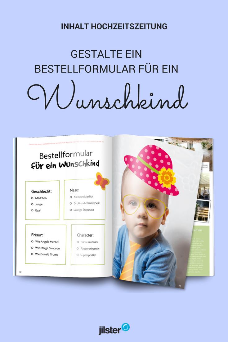 Lustige Hochzeitszeitung Bestellformular Wunschkind Hochzeitszeitung Hochzeitszeitung Ideen Hochzeitszeitung Gestalten