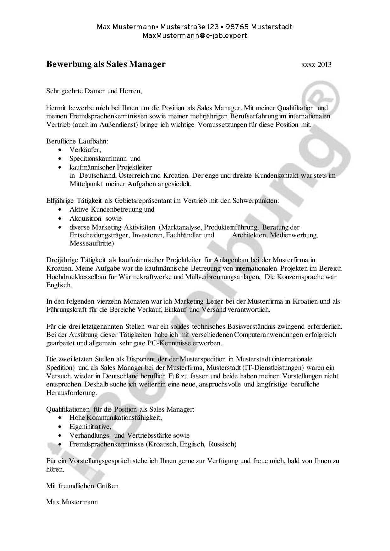 Stellenbeschreibung Kaufmaennischer Leiter Muster