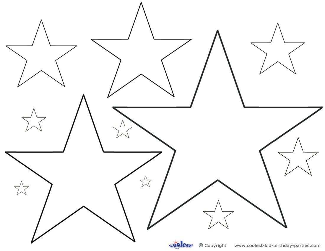 Printable Color Star Decoration Star Coloring Pages Star Stencil Printable Star
