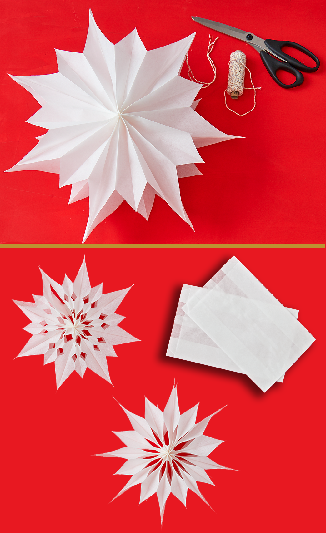 Origami So Bastelt Ihr Sterne Aus Butterbrottuten Butterbrottuten Basteln Basteln Weihnachten Diy Weihnachten Basteln