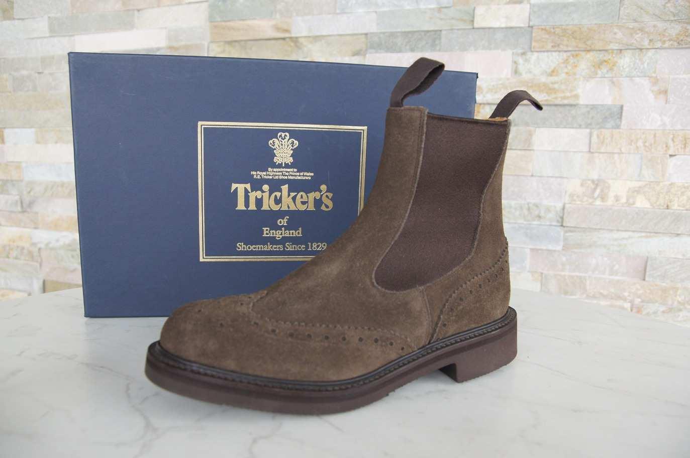 Tricker S Stiefeletten Chelsea Boots 2754 Flint Braun Designerschuhe Outlet De