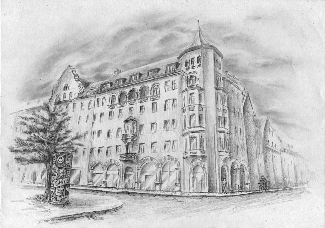 Zeichenkurse Online Schnell Und Einfach Zeichnen Lernen Hauser Zeichnen Gebaude Skizze Architekturzeichnung