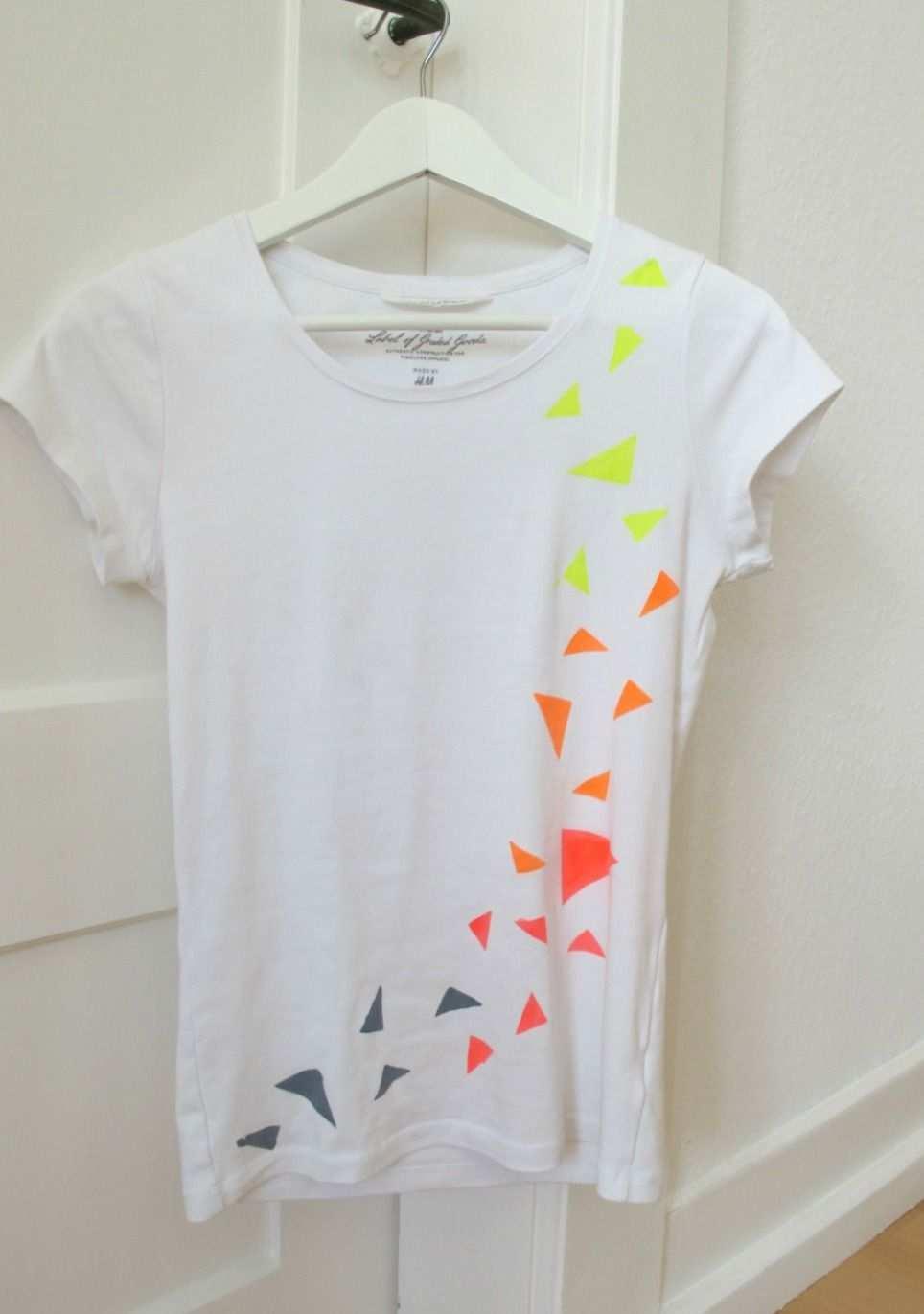 Diy Neon Shirt Babybirds Neonkleidung Selbstgemachte Kleidung T Shirt Bemalen