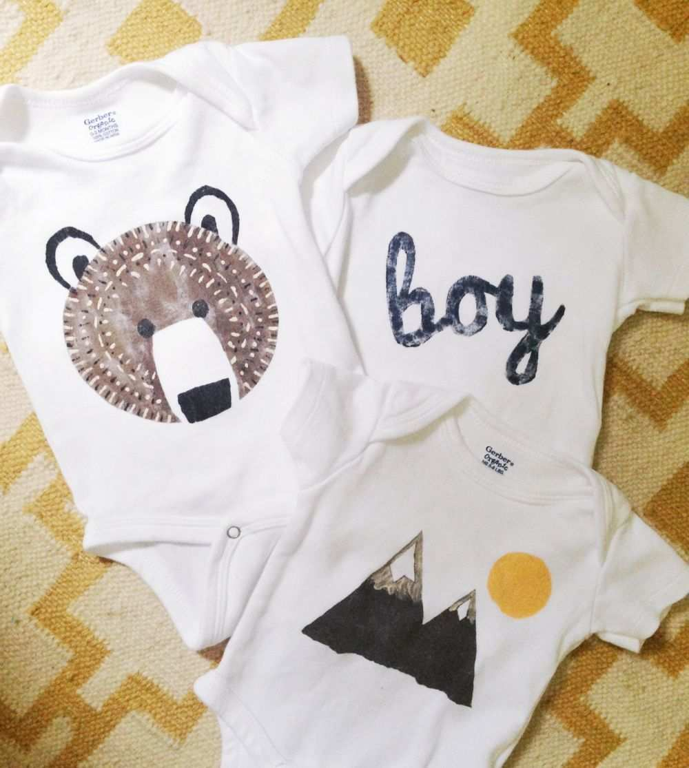 Fabric Stenciling Projects In 2020 Baby Outfit Junge Kleidung Fur Jungen Baby Outfits