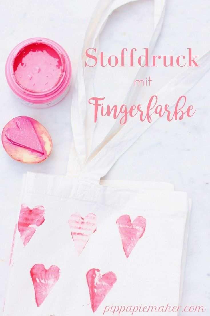 Stempeln Mit Kindern Fingerfarbe Fur Stoff Pippa Pie Maker Fingerfarbe Selber Machen Familie Basteln Farben Mit Kindern