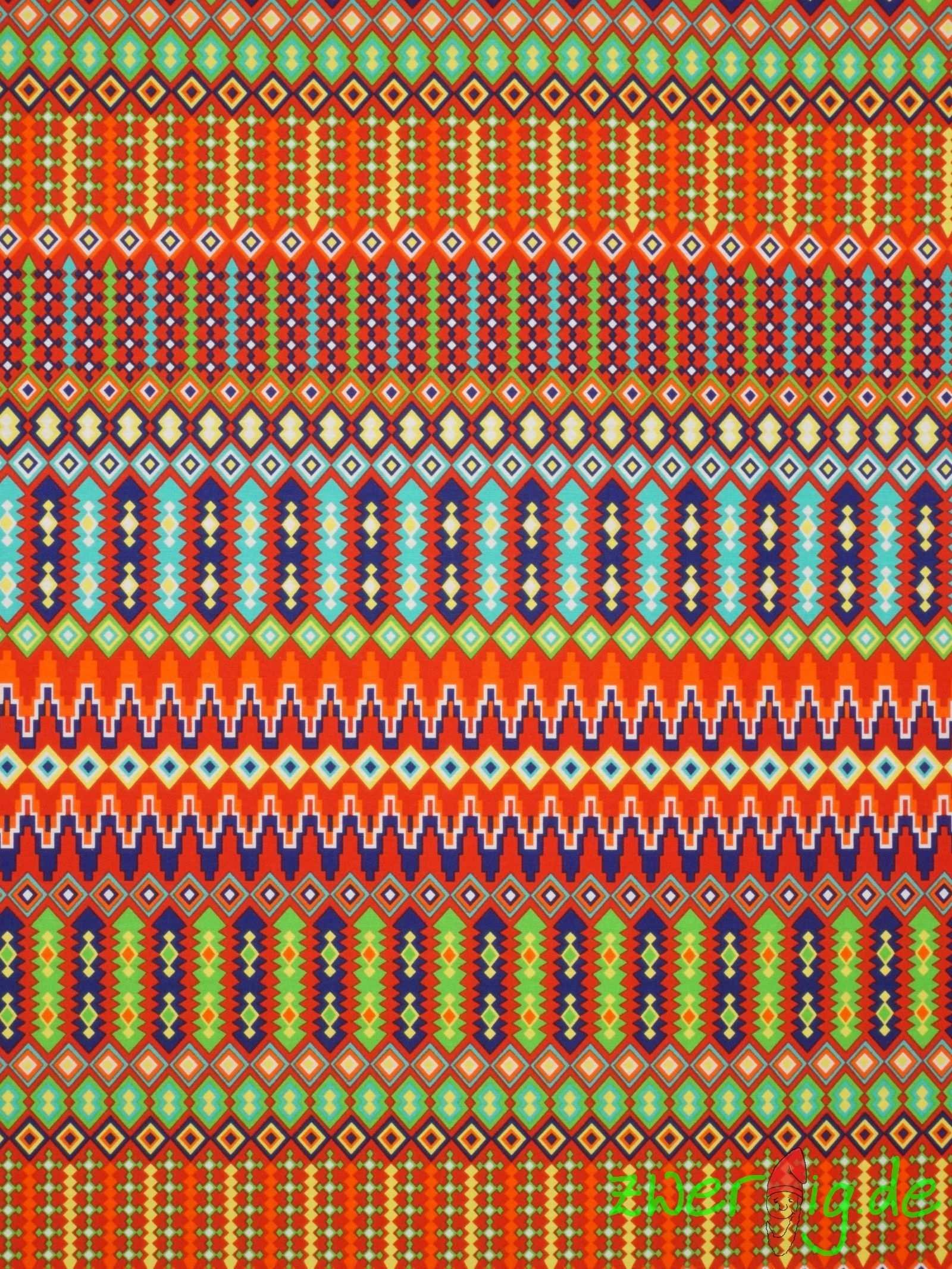 Baumwolle Mix Stoff Ethno Mexican Mexikanisch Bunter Digitaldruck Dekostoff Mexican Jewelry