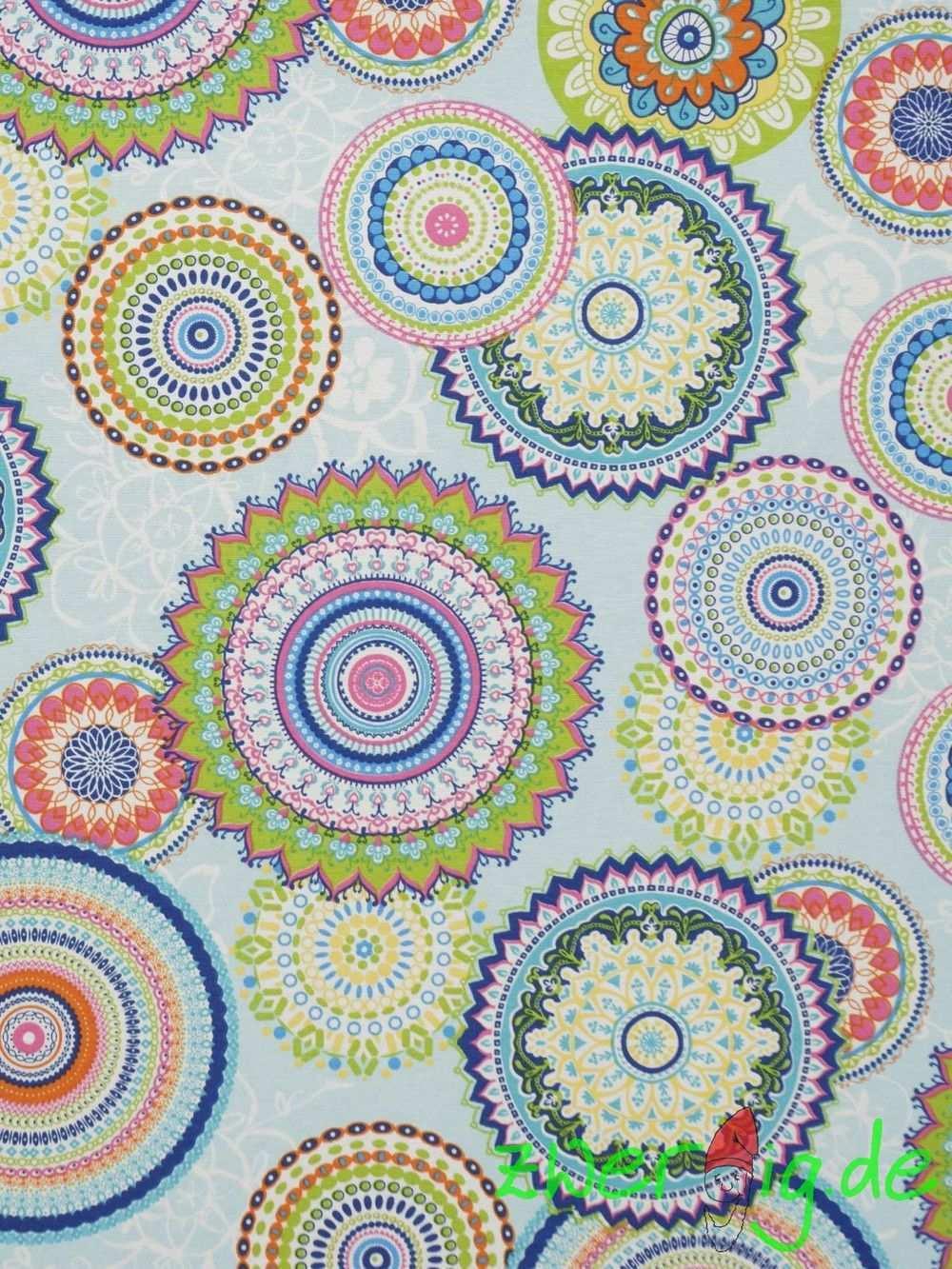 Stoff Grafische Muster Baumwolle Mix Stoff Mandala Bluten Blumen Ein Designerstuck Von Zwergigde Bei Dawanda Mandalas Stoffe Zum Nahen Etsy