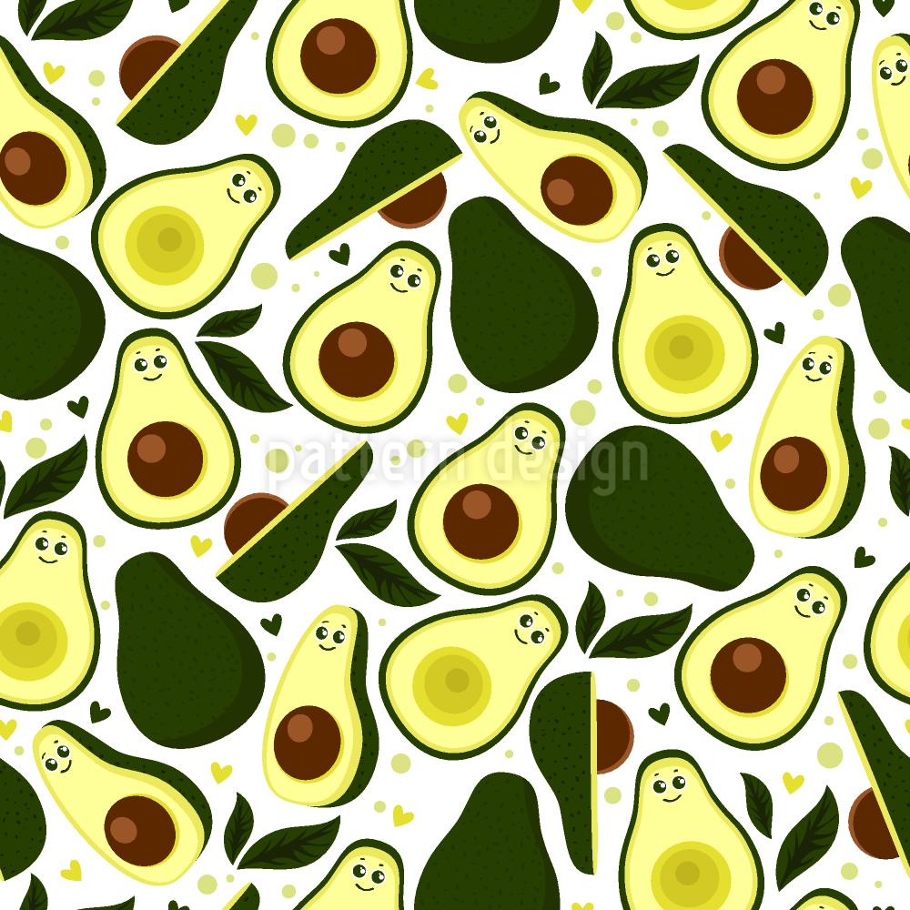 Niedliche Avocado Umfarbbarer Baumwollstoff Viskose O Baumwoll Jersey Designt Von Inna Koroleva Www Stoff Love Avocado Niedlich Stoffe Zum Nahen