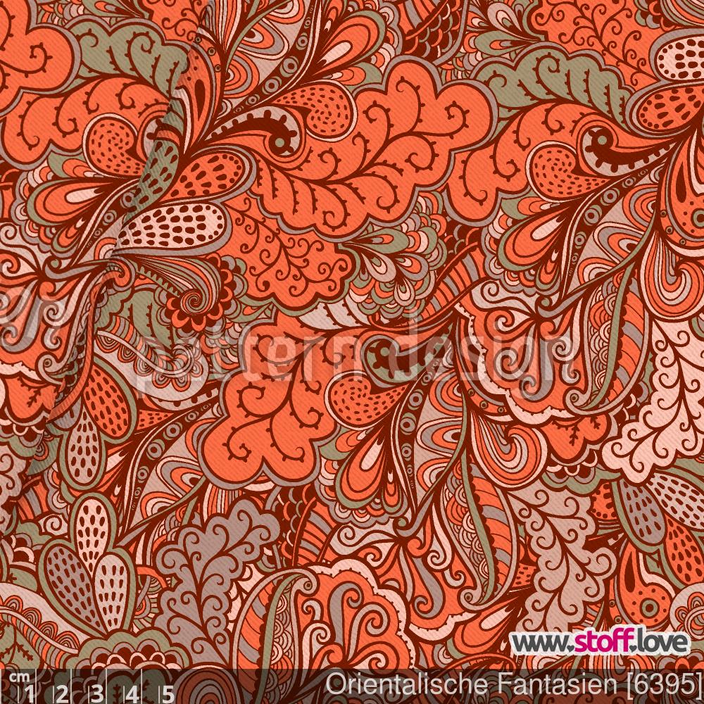 Orientalische Fantasien Als Baumwollstoff Viskose Oder Baumwoll Jersey Sowie Polyestersatin Fantastisch Die Ornamente Sind Fre Vektormuster Abstrakt Stoffe