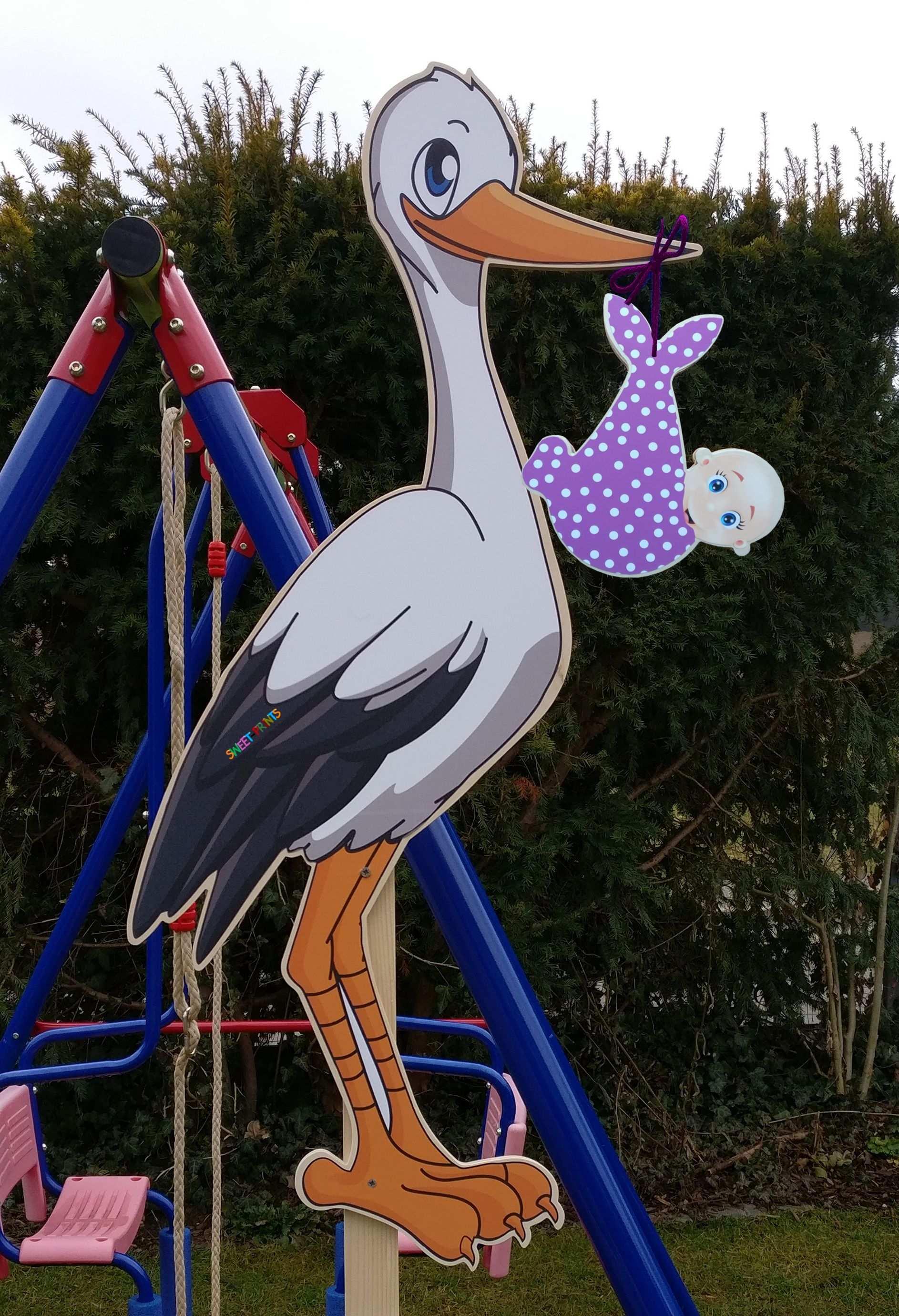 Babystorch Storch Mit Baby Babystorch Aus Holz Holz Baby Storch Storch Aus Holz Holzstorch Babystorch Aus H Klapperstorch Storch Baby Baby Storch Basteln