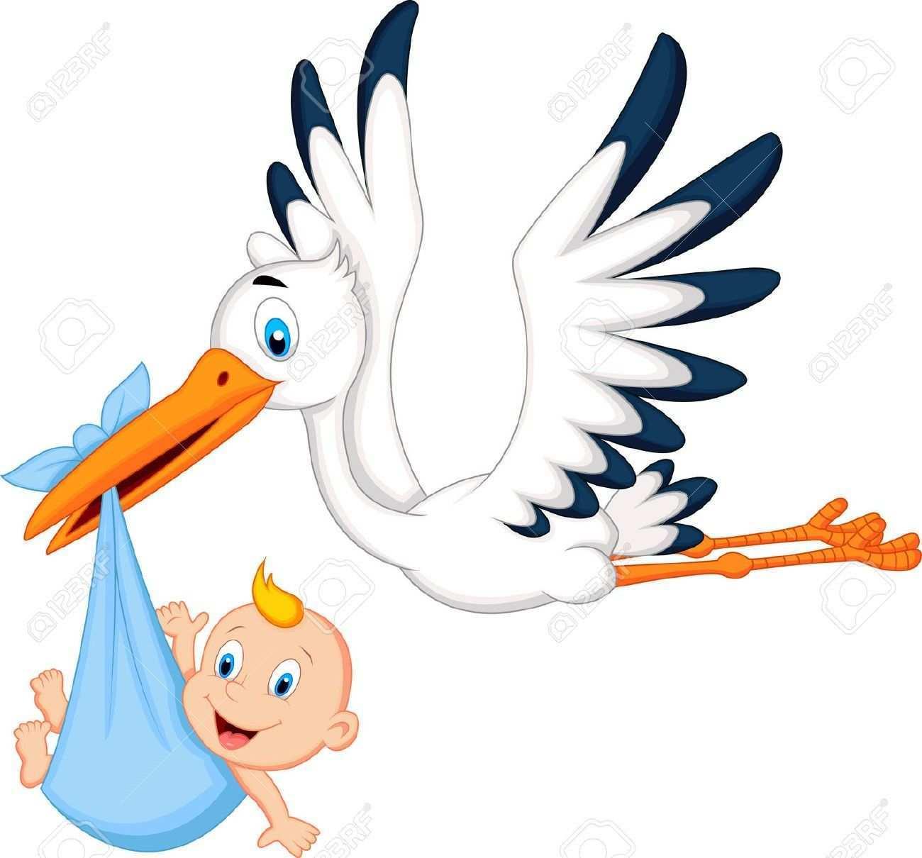 Pin Von Janina Wundersee Auf Baby Baby Silhouette Storch Zur Geburt Klapperstorch