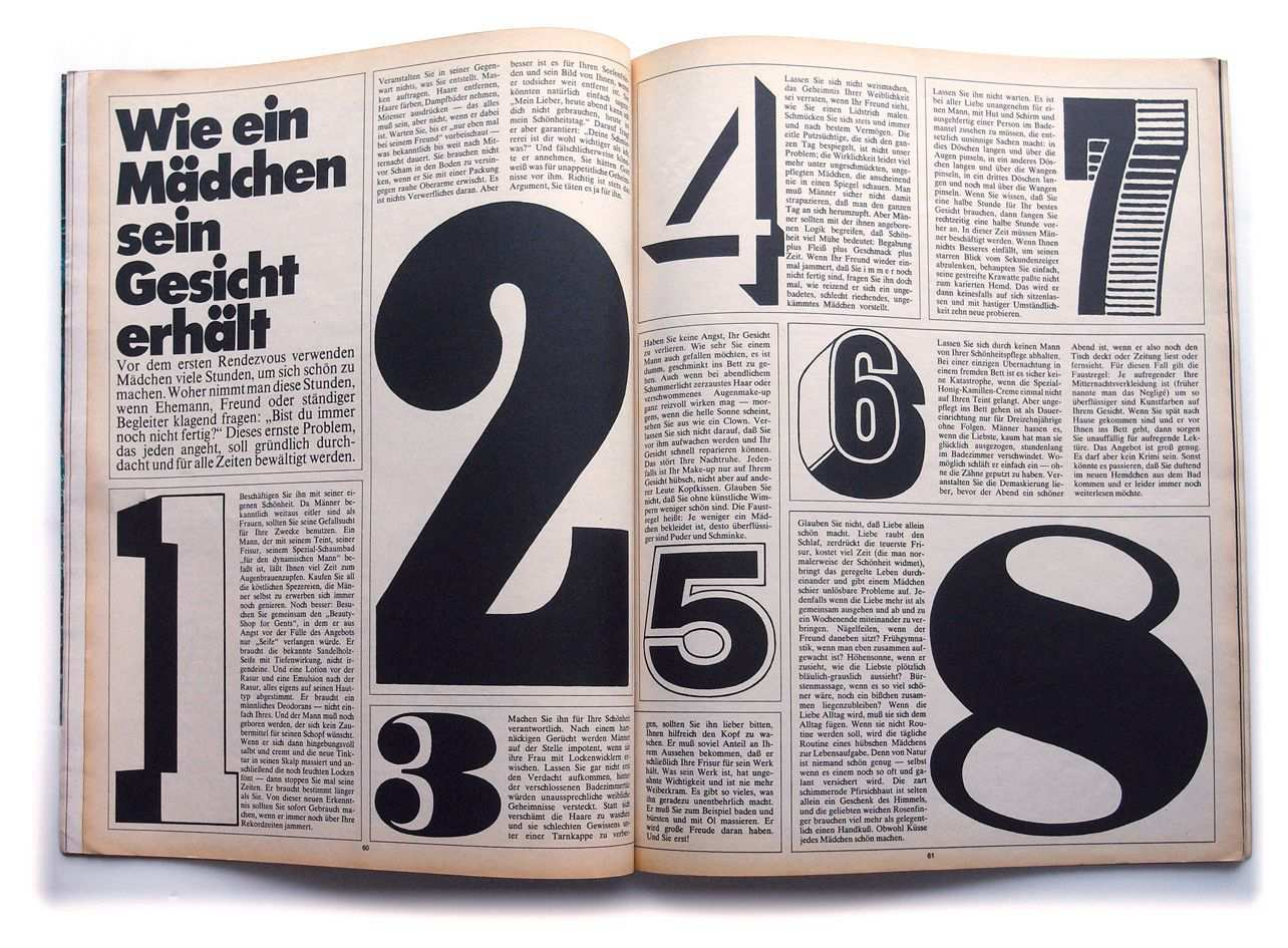Twen Magazine From West Germany Late 1960s Early 1970s Book And Magazine Design Book Design Typography Inspiration