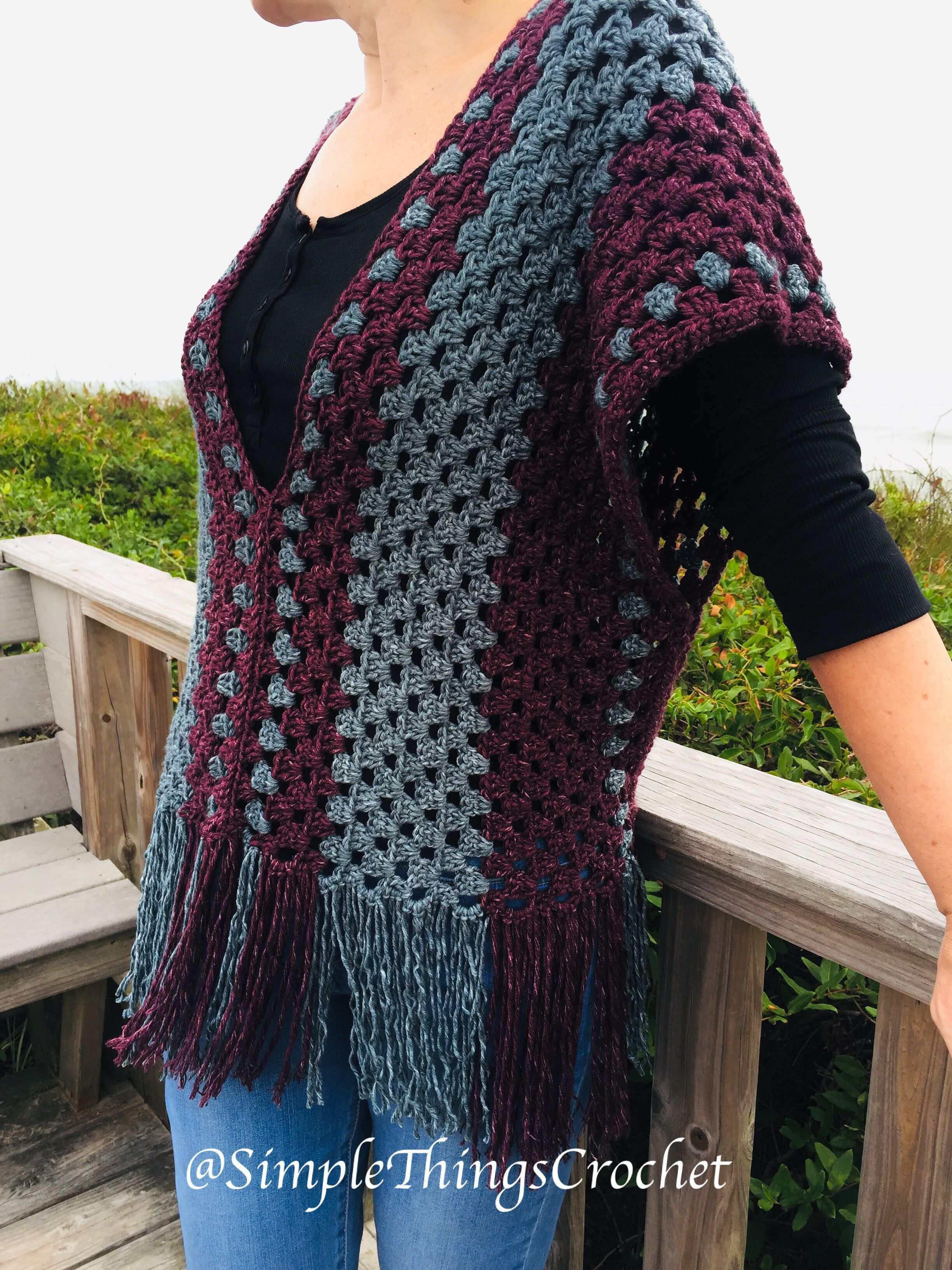 Misty Morning Poncho Top Simple Things Crochet Krose Ust Krose Tig Isi Ceket