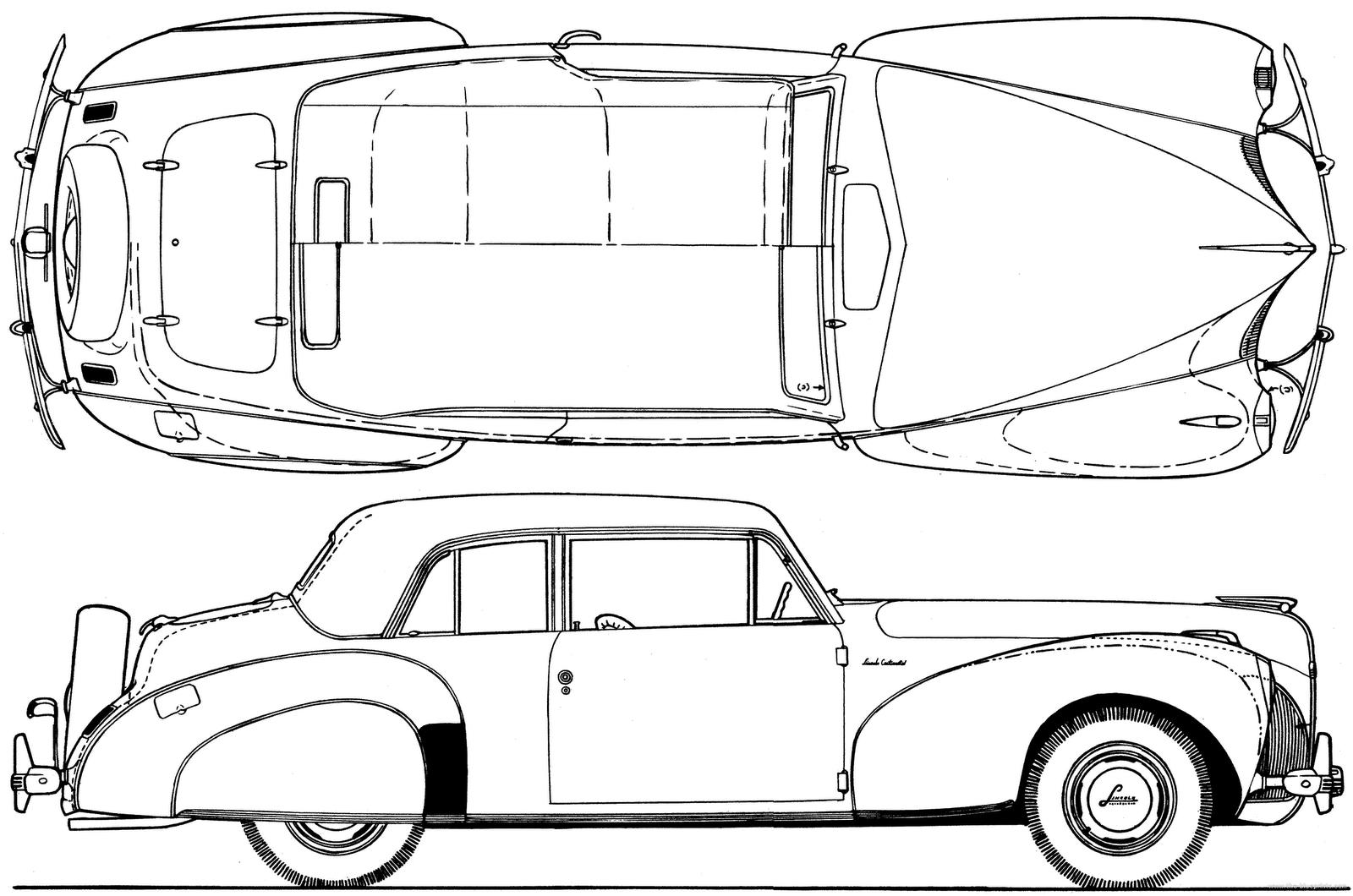 Lincoln Technische Zeichnung Automobil Models