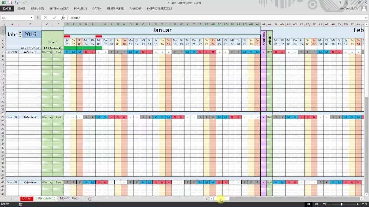 Excel Schichtplan Erstellen Teil 1 Datum Schichtplan Erstellen Excel Vorlage Dienstplan Erstellen