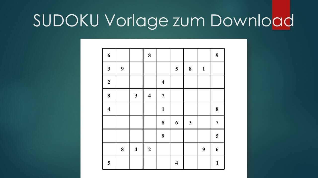 Sudoku Zum Ausdrucken Leicht Mittel Schwer Muster Vorlage Ch