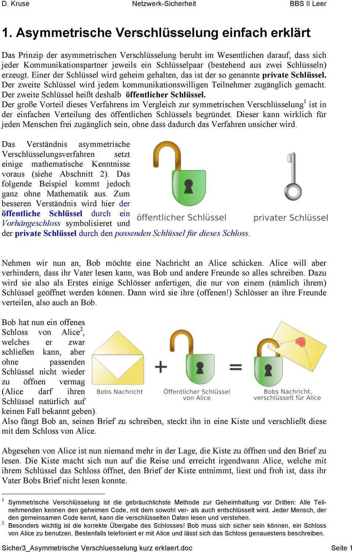 1 Asymmetrische Verschlusselung Einfach Erklart Pdf Free Download