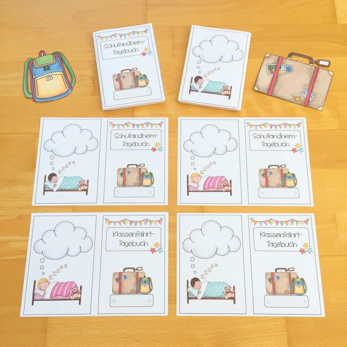 Tagebuch Schreiben Auf Klassenfahrt Klassenfahrt Schullandheim Erste Klasse