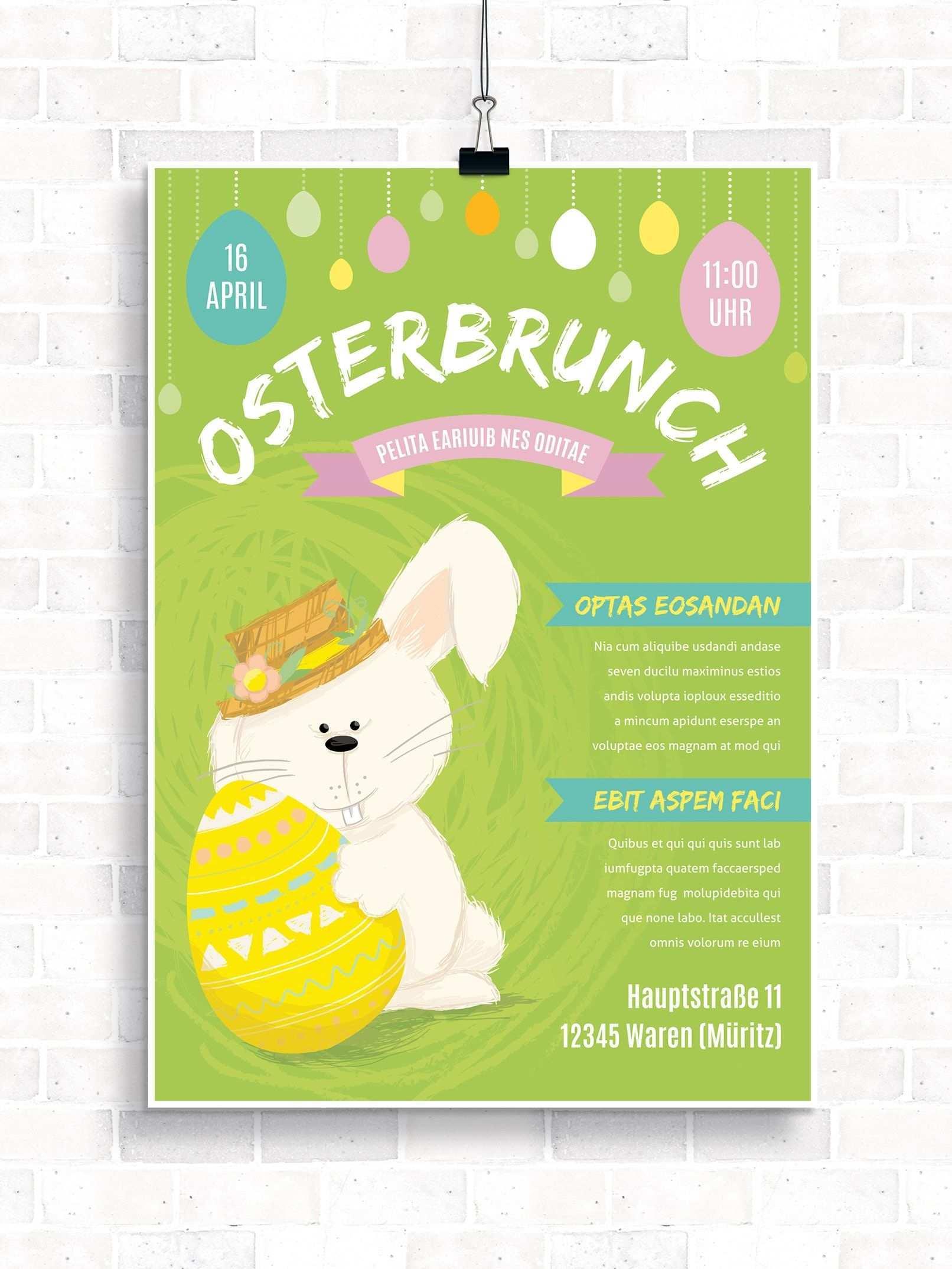 Vorlagen Zu Ostern Osterbrunch Flyer Plakate Flyer Vorlage Flyer Plakat