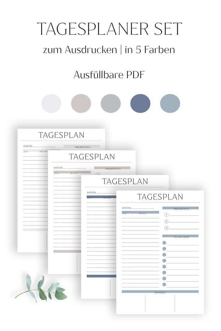 Tagesplan Vorlage Zum Ausdrucken Pdf Ausfullbar Set 5 Farben Swomolemo Tagesplan Vorlagen Tagesplan Planer Vorlagen