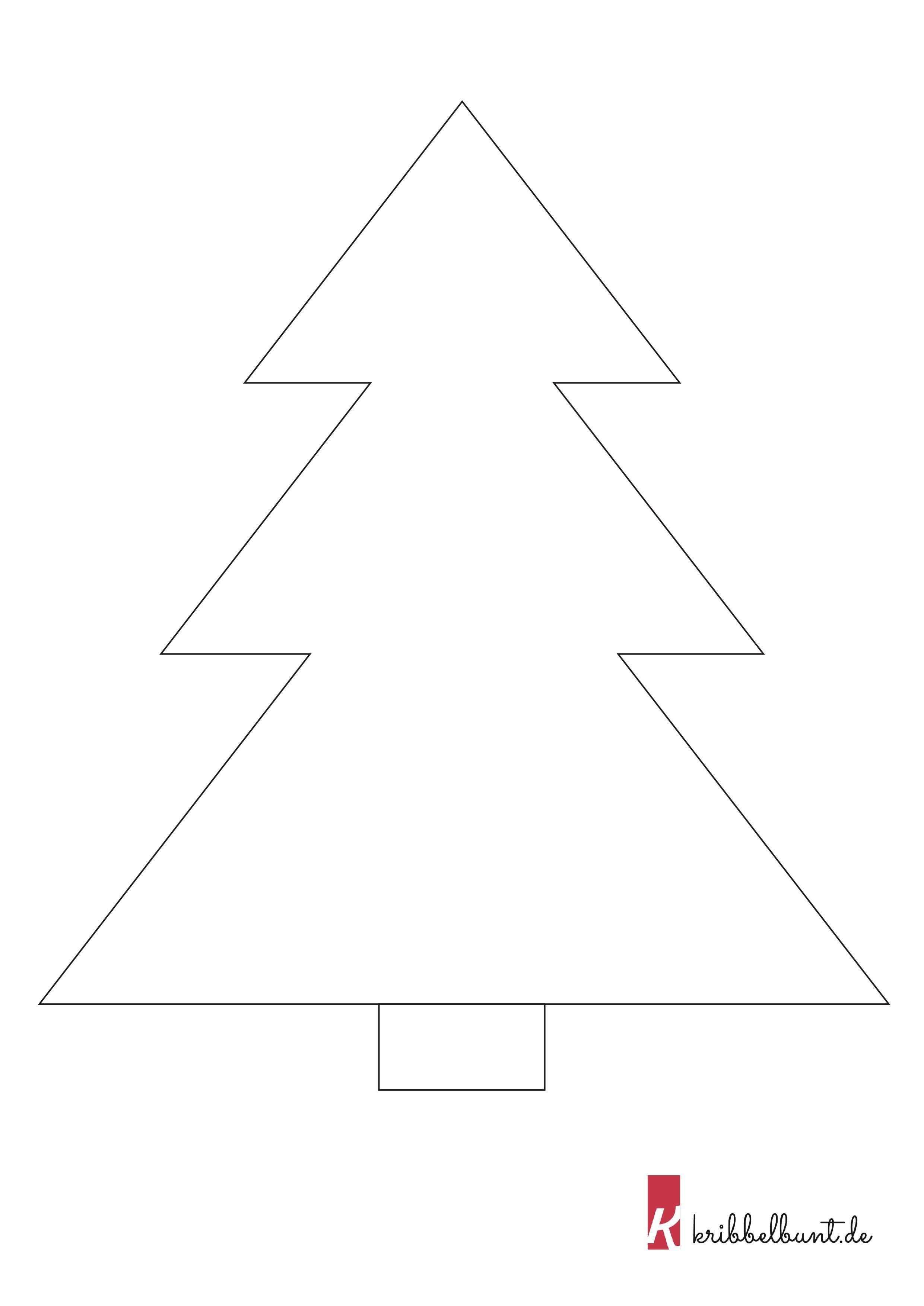 Tannenbaum Vorlage 1 Tannenbaum Vorlage Bastelvorlagen Zum Ausdrucken Baum Schablone
