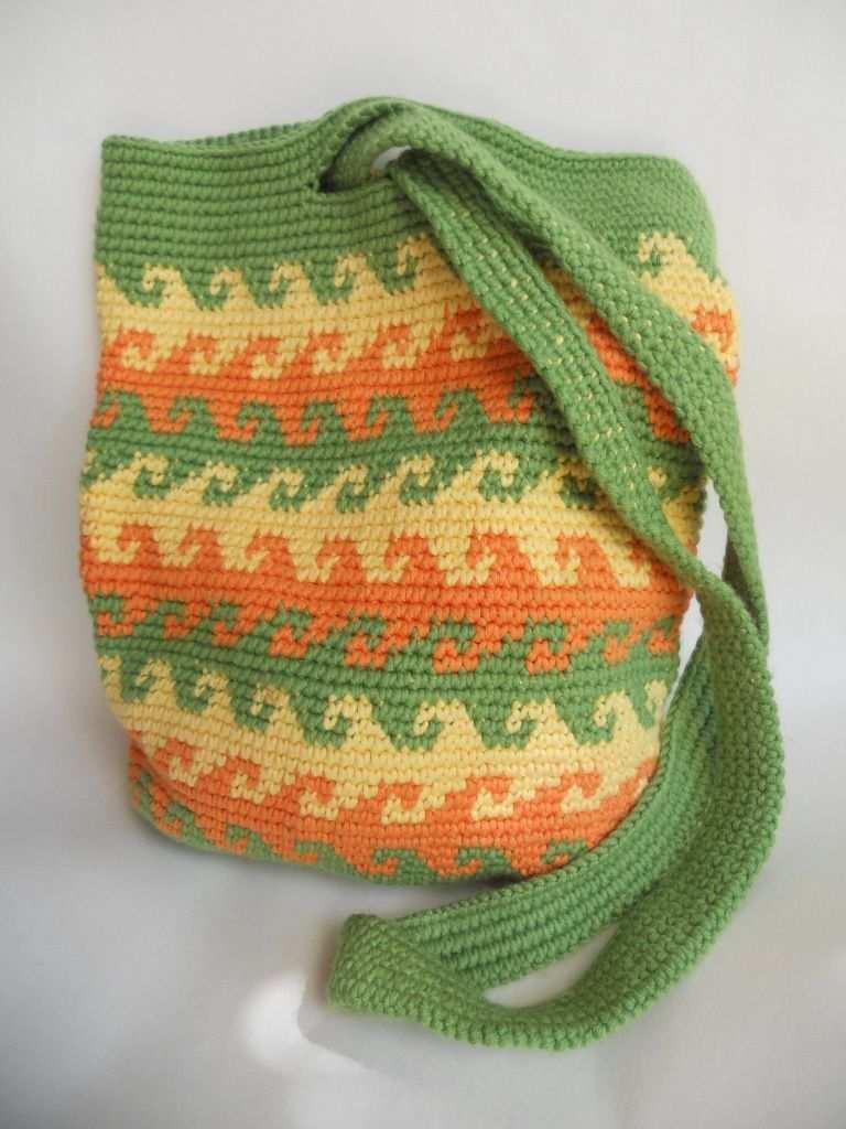 Tapestry Crochet Tasche Hakeln Wandteppich Tapestry Hakeln