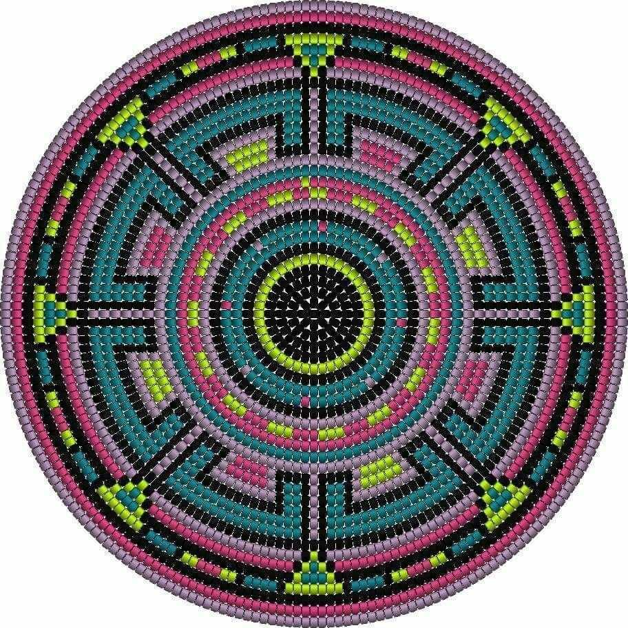 Pin By Chapeau On Mandala Krugi Kryuchkom Ili Iz Busin Tapestry Crochet Patterns Crochet Tapestry Tapestry Crochet