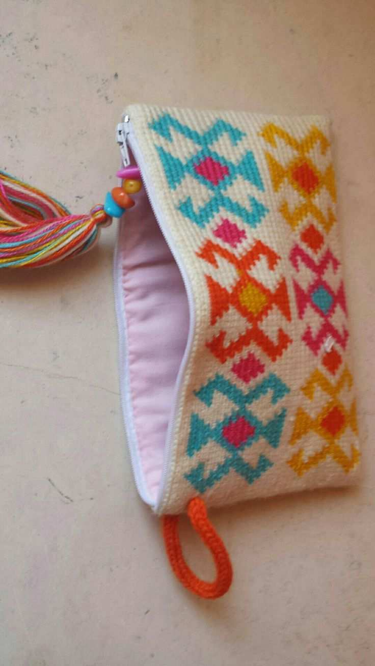 Pouch Tapestry Fair Isle Crochet We Are Want To Say Thanks If You Like To Share This Post To Another People Via Yo Beutel Hakeln Gehakelte Clutch Tasche Hakeln