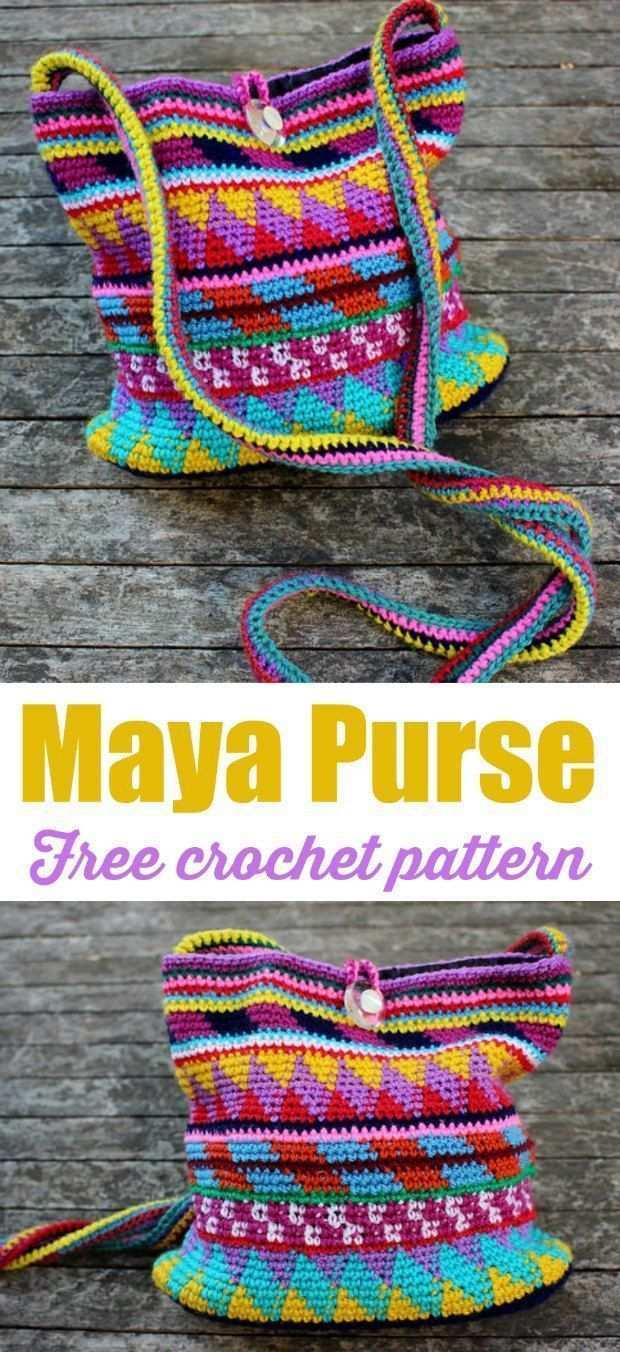 Free Crochet Purse Maya Pattern And Tutorial Tasche Hakeln Handtaschenmuster Tasche Hakeln Anleitung