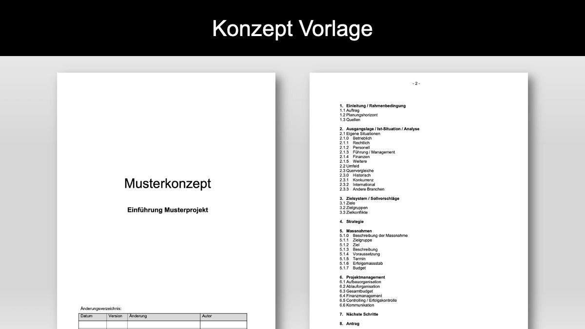 Konzept Vorlage Im Word Format Kostenloser Download
