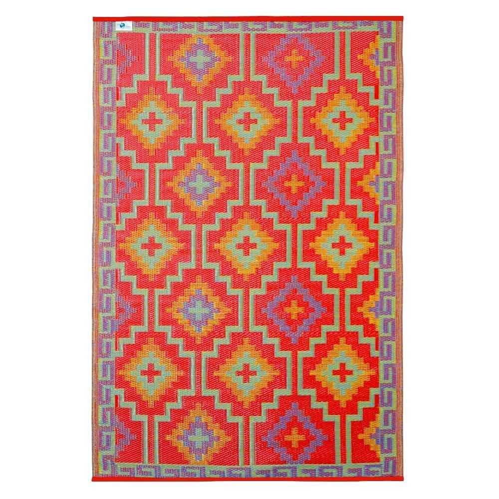 Kunststoffteppich Lhasa Orange Violett Teppich Kunststoffteppich Muster