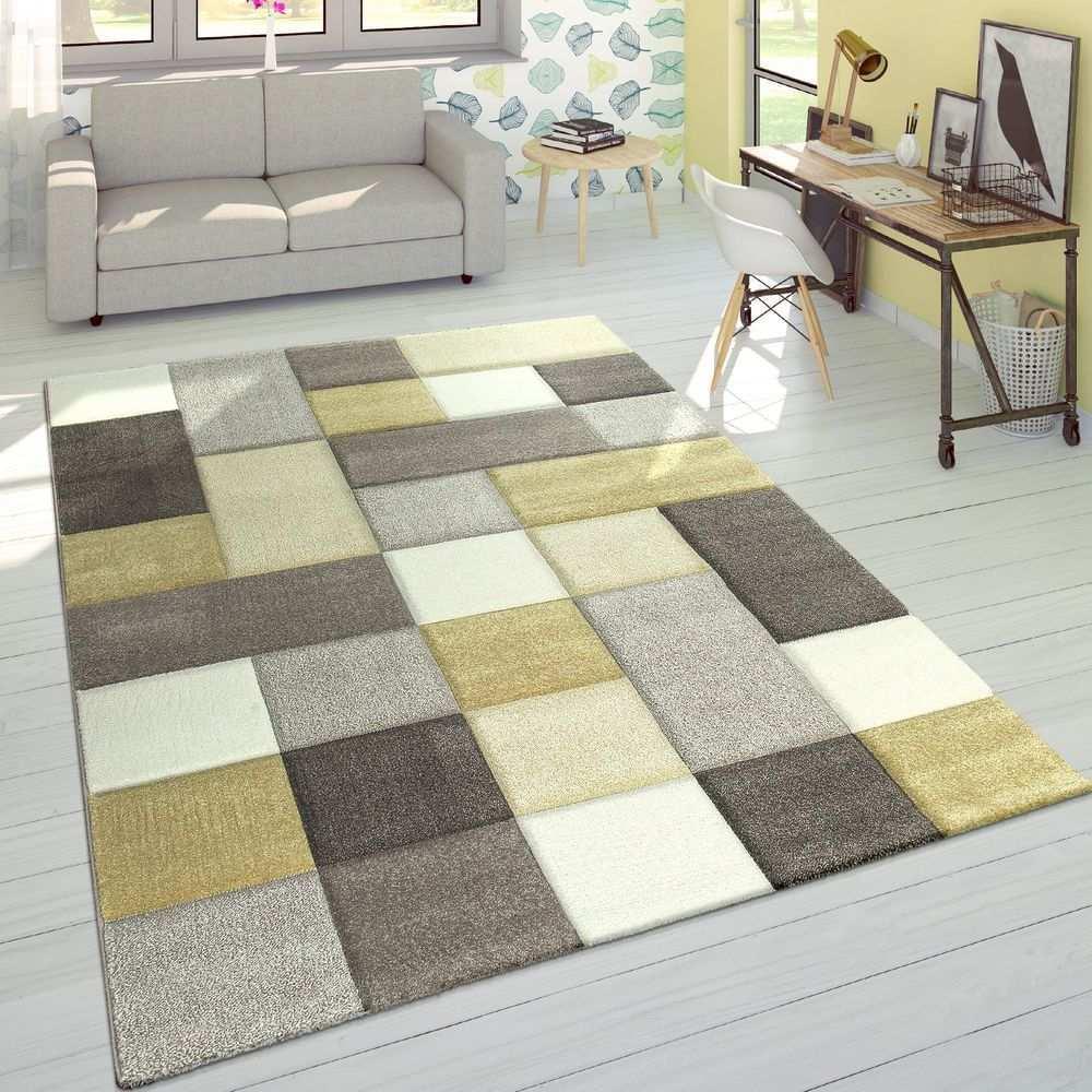 Teppich Rauten Muster Pastellfarben Teppich Design Teppichfarben Teppich Gelb