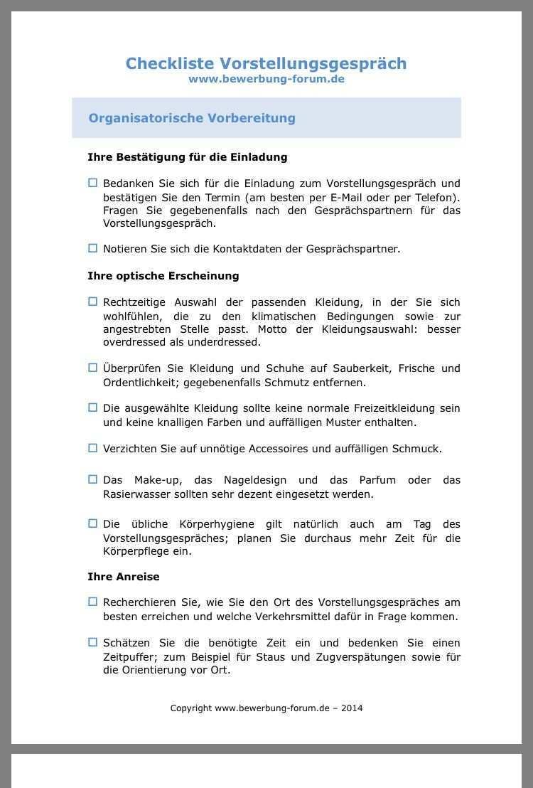 Pin Von Verena Nuernberg Auf Bewerbung Vorstellungsgesprach Checkliste Liste