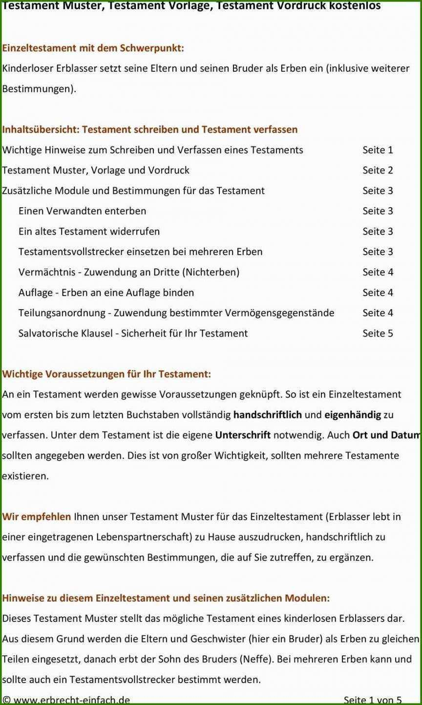 Testament Vorlage Alleinerbe Vorlagen Vorlagen Word Lebenslauf Vorlagen Word