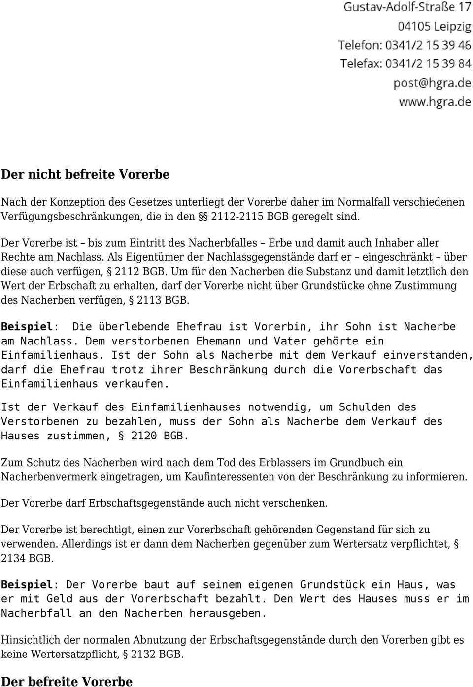Vorerbschaft Und Nacherbschaft Im Testament Pdf Kostenfreier Download