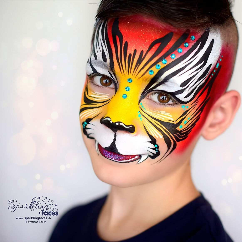 Kinderschminken Tiger In 2020 Kinderschminken Schminkgesichter Kinder Schminken