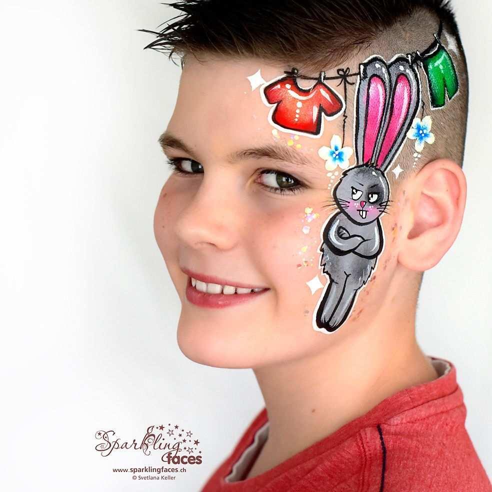 Kinderschminken Hase In 2020 Kinderschminken Kinder Schminken Bemalte Gesichter