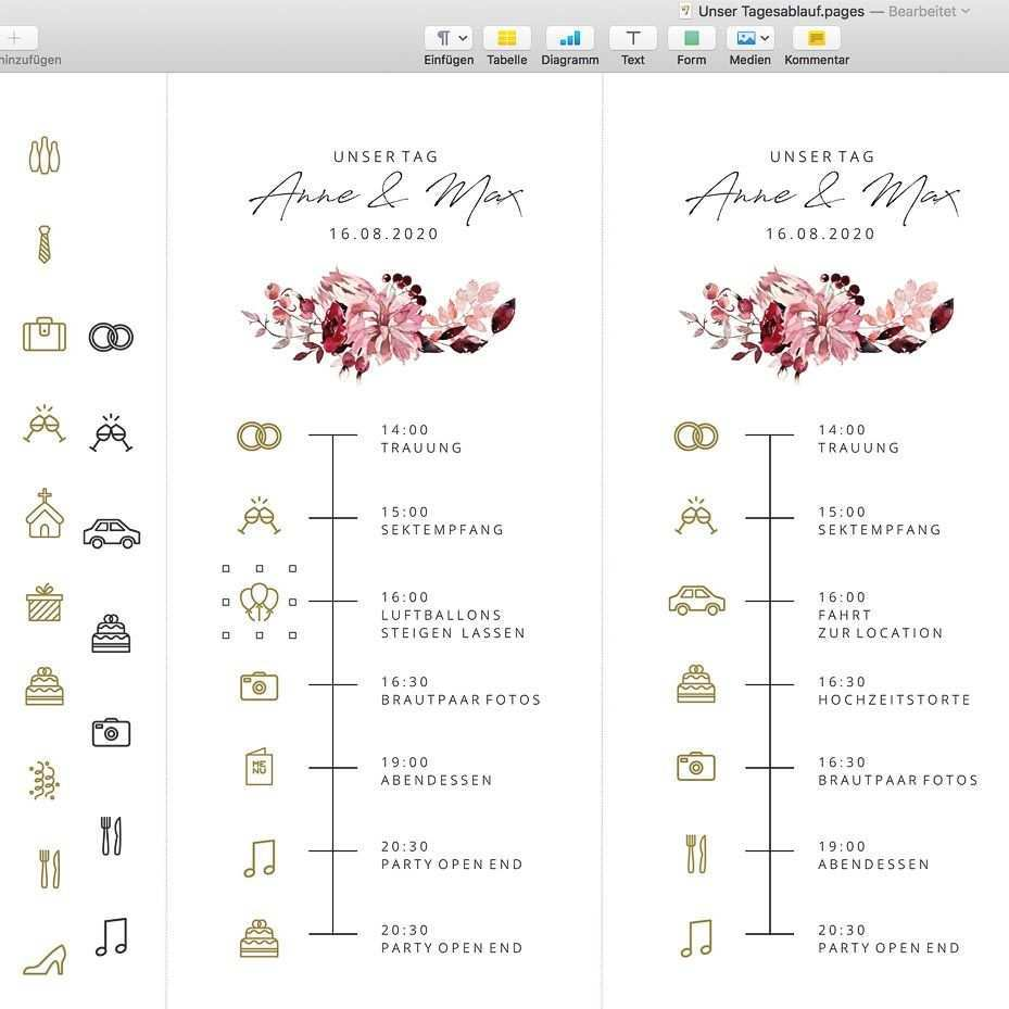 Timeline Hochzeit Icons Symbole Und Vorlage Zum Download Hochzeit Hochzeitseinladungen Diy Tagesablauf Hochzeit