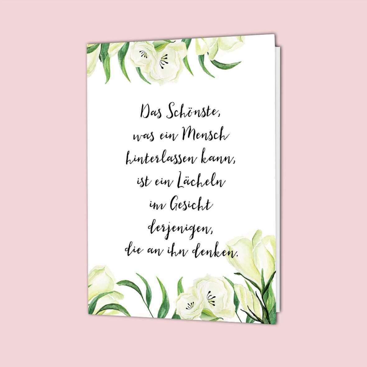 Trauerspruch Trost Trauerkarte Schreiben Trauerspruche Beileid Spruche Spruche Trauer