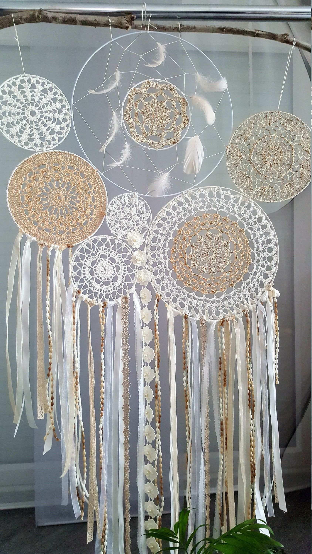 Grosser Traumfanger Wandbehang Dreamcatcher Viele Traumfanger Boho Style Hochzeit Dekoration Schlafzimmer In 2020 Wandbehang Grosser Traumfanger Dekoration
