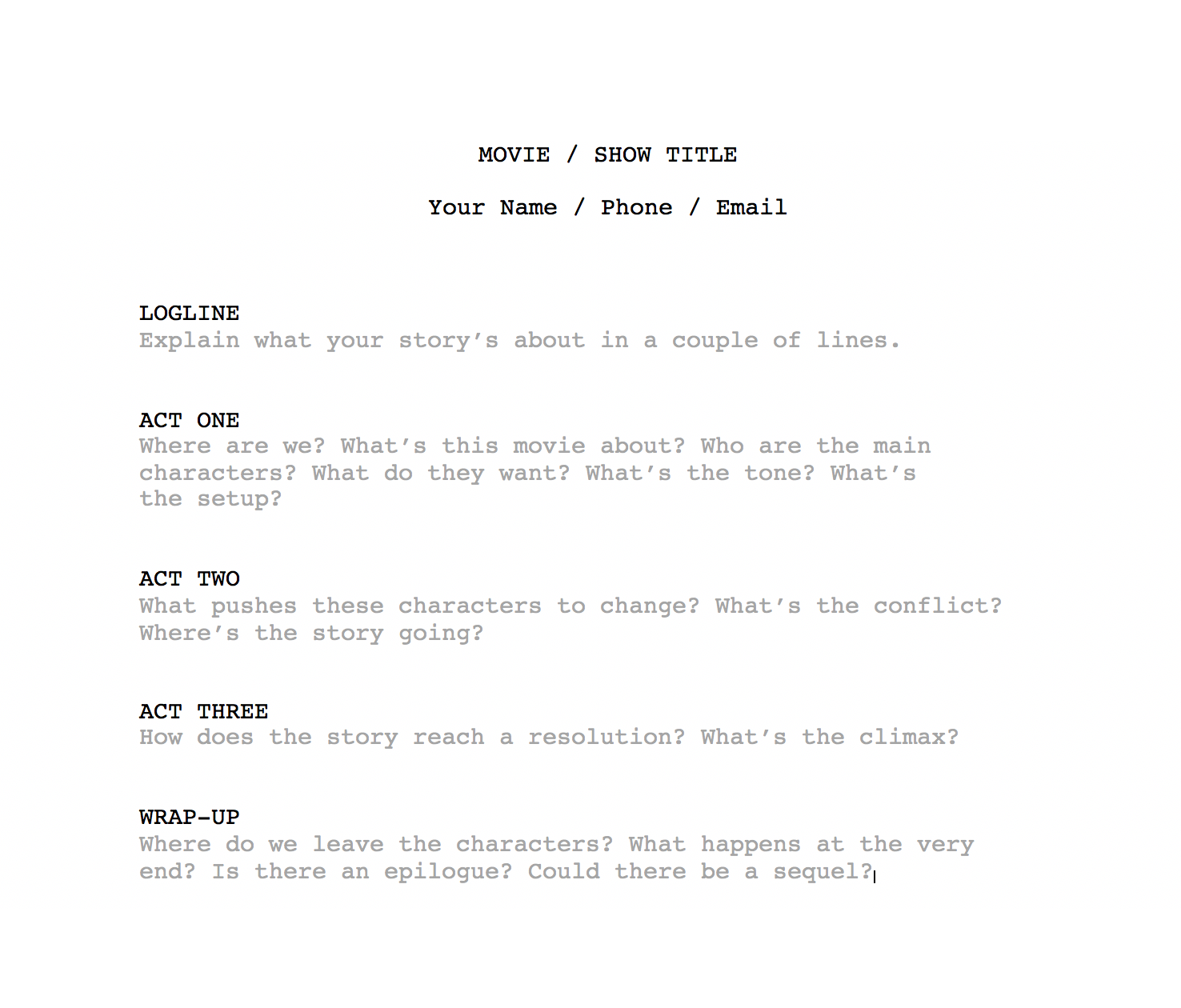 How To Write A Film Treatment Step By Step Guide With Template Boords