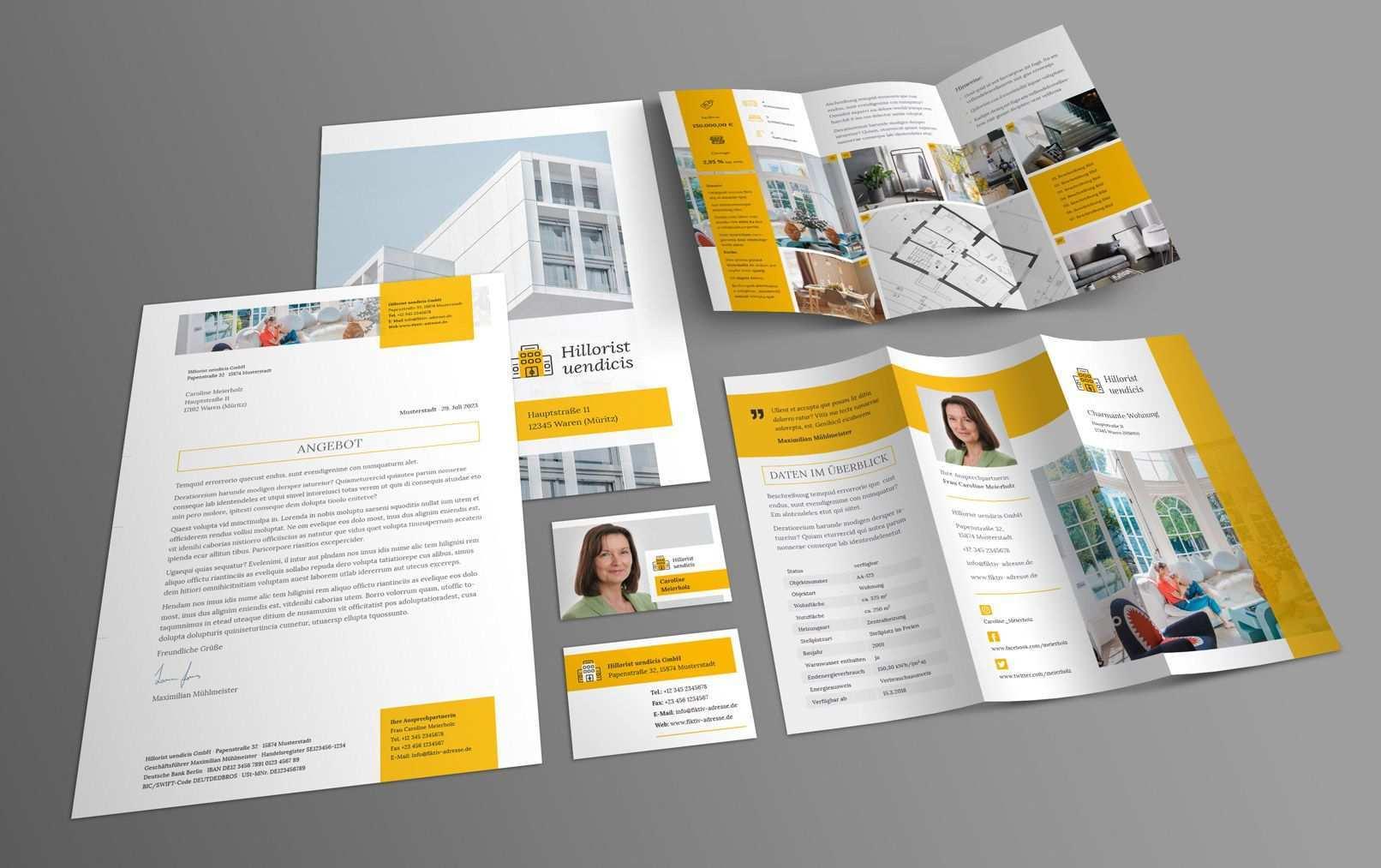 Immobilien Marketing Hochwertige Corporate Design Vorlagen Hochwertige Visitenkarten Corporate Design Marketing