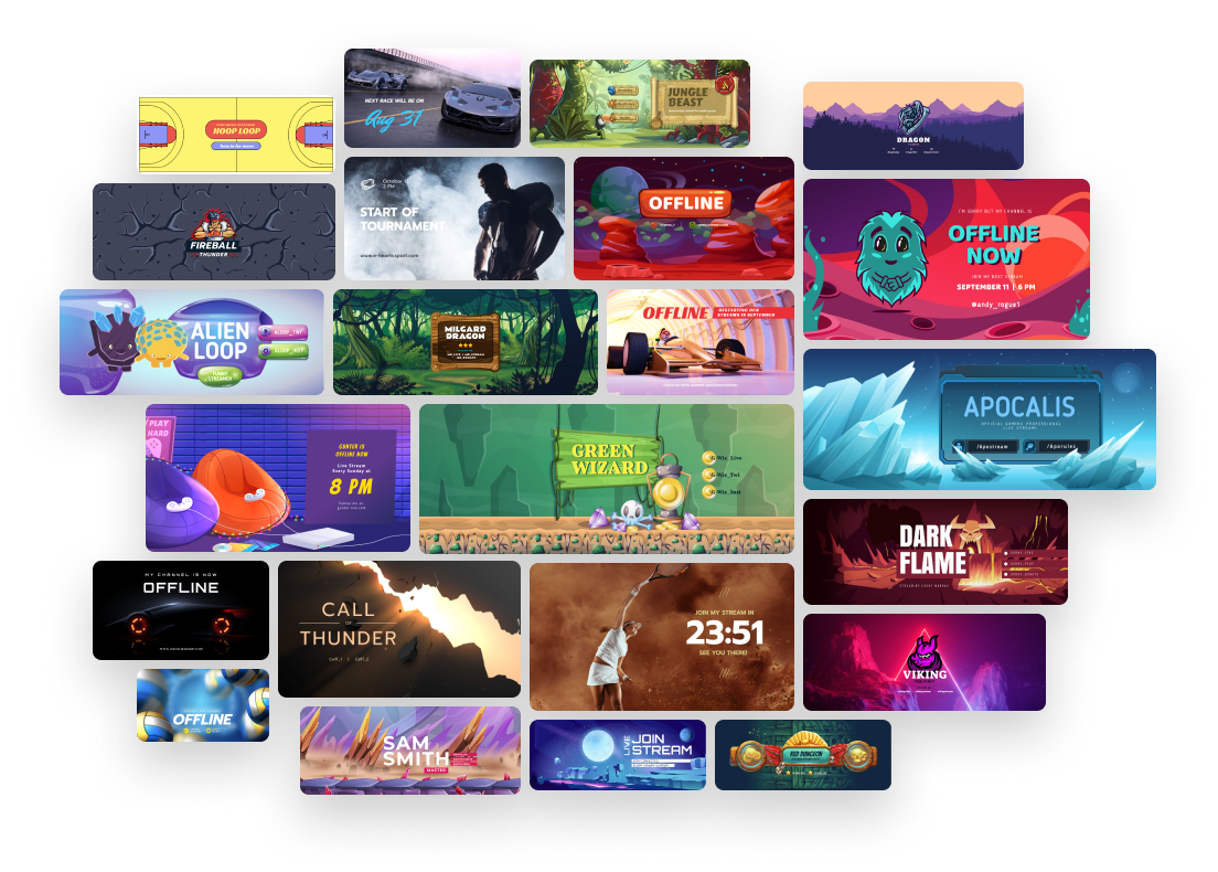 Kostenloser Twitch Banner Maker Erstelle Ein Twitch Videobanner