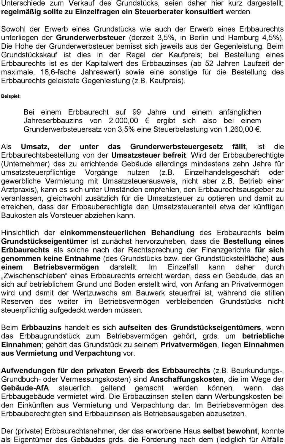 Kundenmerkblatt Zum Erbbaurecht Pdf Free Download