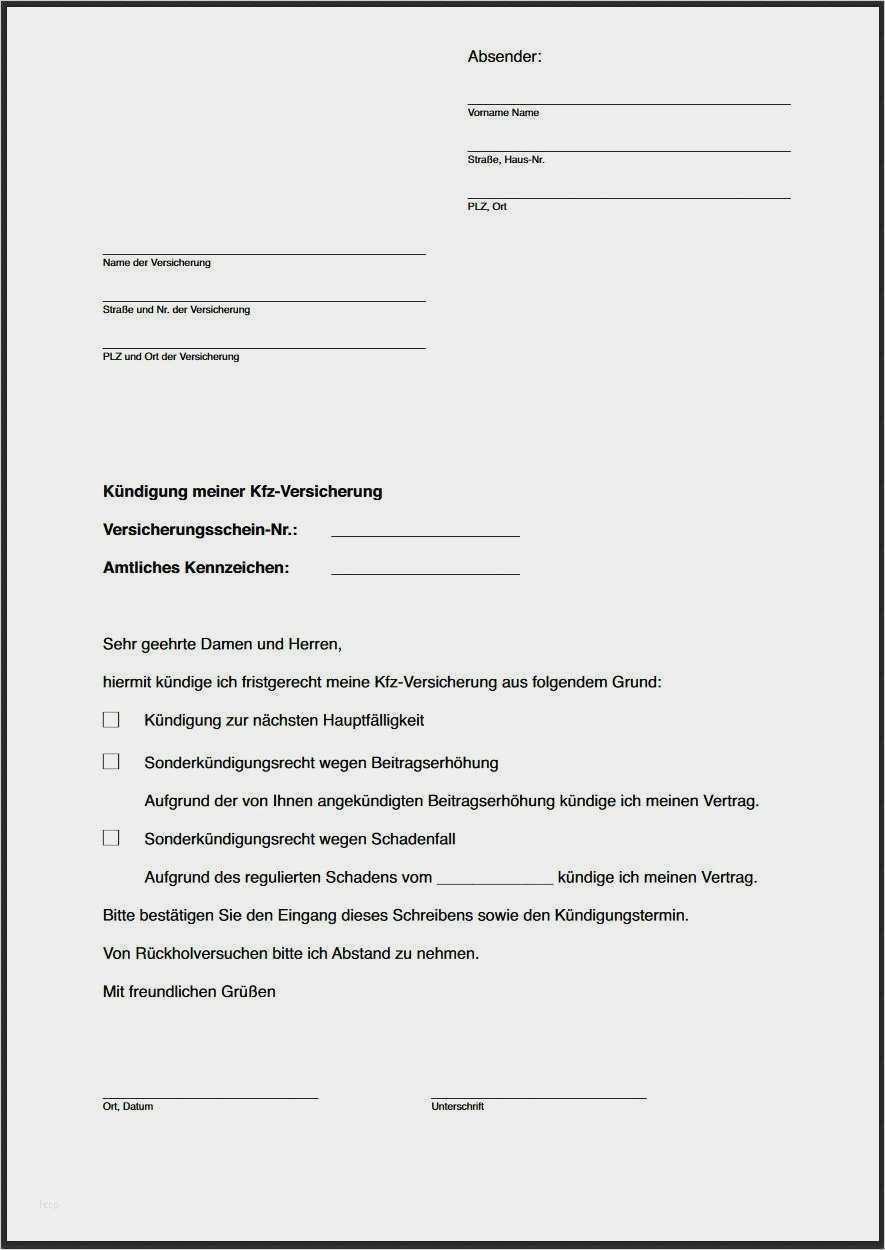 44 Beste Kfz Versicherung Kundigen Vorlage Kostenlos Ideen Kfz Versicherung Autoversicherung Kundigung Schreiben
