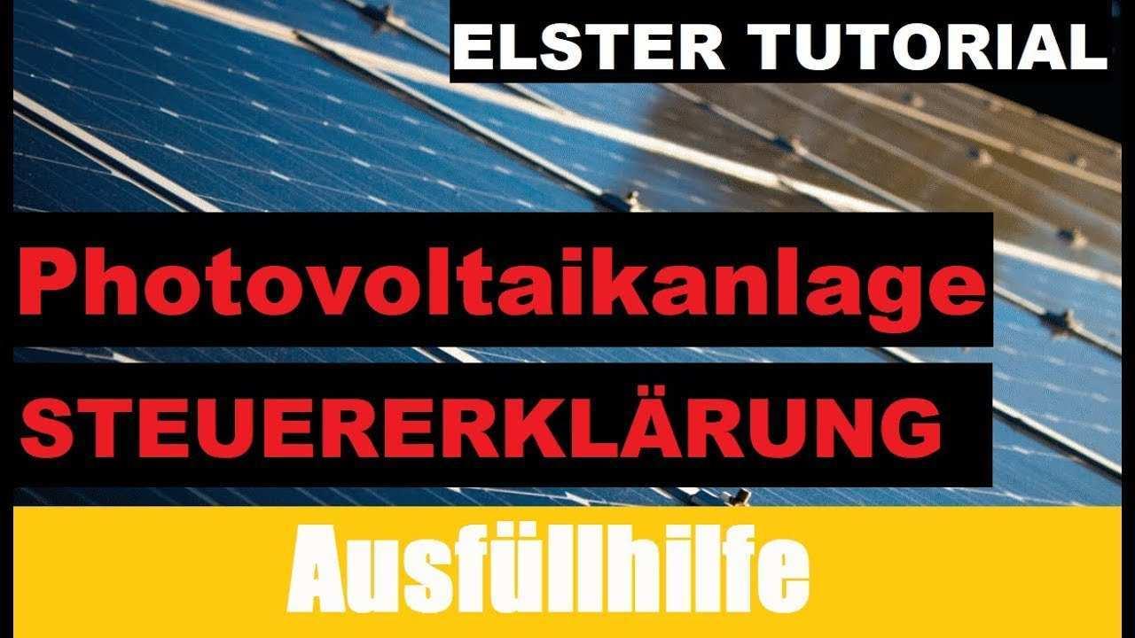 Photovoltaikanlage Eigenverbrauch Steuererklarung Youtube