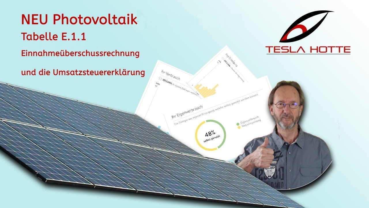 Neu Photovoltaik Steuererklarung Und Umsatzsteuer Mit Neuer Tabelle E 1 1 Youtube